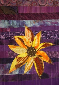 Suzanne Gummow: April 2013 art quilt, fabric collage