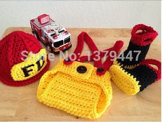 free baby fireman diaper cover patterns | Baby Firefighter Fireman Hat Outfit 4 pc Diaper Cover Set w/Suspenders ...