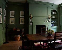 farrow ball chalke green dining room My Favorite Green Paint Colors. Green Paint Colors, Room Colors, Red Paint, Georgian Interiors, Farrow Ball, Style Deco, Green Rooms, Green Walls, Orange Rooms