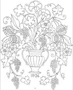 Joan Drew's 1929 Portfolio of Designs for Embroidery - (free charts - click each picture for chart)