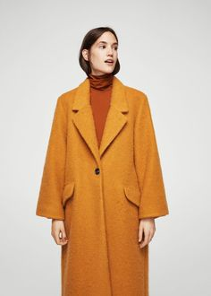 4267d498fe480 Mohair wool-blend coat - Woman