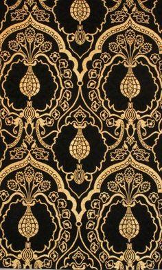Wakefield Brocatelle - Black Fabrics - Textiles & Trimmings