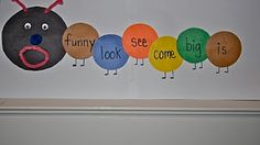 """Building a sight word """"hungry"""" caterpillar--great way to get them to own their words!"""