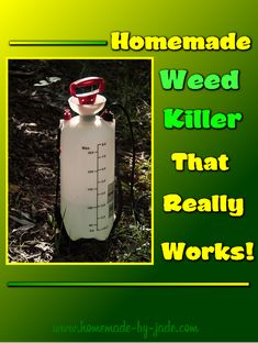 Homemade Weed Killer That Really Works - Homemade by Jade Verticle Garden, Weed Killer Homemade, Nail Polish, Square Foot Gardening, Love Garden, Grow Your Own Food, Raised Garden Beds, Amazing Gardens, Drink Bottles