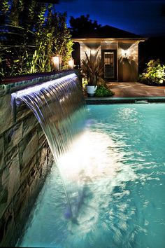 This LED lighted Sheer Descent water feature is fabulous!