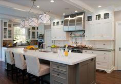 "Kitchen Design. Great Kitchen Design Ideas. #KitchenDesign Wall Paint Color: ""Senora Gray 1530 by Benjamin Moore"". #Kitchen #PaintColor"