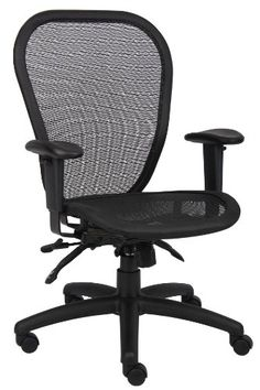 Boss Office Products B6018 MulitFunction Mesh Task Chair in Black -- Click image to review more details.Note:It is affiliate link to Amazon.