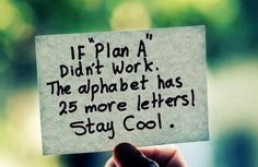 God is in control - hold plans loosely