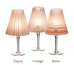 Pretty Luminaria #shades to put over wine glasses and create a little lamp.  find at yummicandles.com