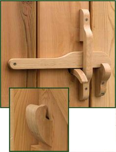 360 Yardware offers a wide selection of gate latches in many types and categories. We have contemporary, modern, traditional, and rustic gate latches. And gate latches for double gates. Woodworking Business Ideas, Woodworking Shows, Woodworking Plans, Woodworking Projects, Woodworking Patterns, Wooden Hinges, Wooden Gates, Wooden Doors, Contemporary Mailboxes