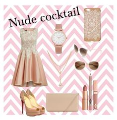 """Nude cocktail"" by msbbomber2012 ❤ liked on Polyvore featuring Larsson & Jennings, Dolce Vita, Oliver Peoples, Christian Louboutin, Hobbs, modern, cute, DateNight, beautiful and girly"