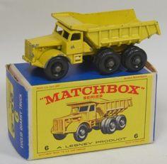 matchbox - vintage dumptruck