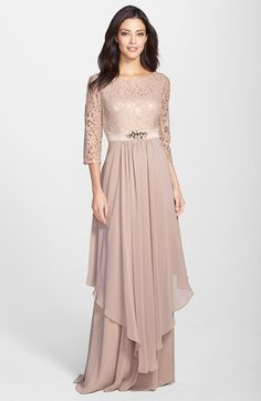 Eliza J Embellished Lace & Chiffon Gown (Regular & Petite) available at #Nordstrom