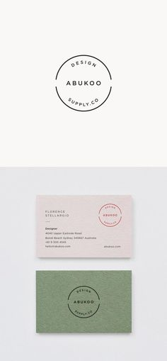 c572c30e6691 Minimal Business Card Design and Visual Identity for Abukoo