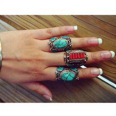 Tibetan Turquoise Ring. #ring #jewelry
