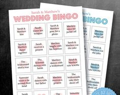 Wedding Bingo Game, Speech best man, groom, father of the bride, Entertainment Reception Personalised - Printable Digital file