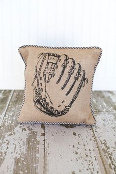A cute, simple way to add baseball to your home decor...and it's vintage looking, always a plus!