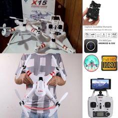 Drone X15 WIFI FPV 4K ULTRA HD REAL-TIME | Harga: Rp. RP 2.100.000 x Diskon 6% = Rp 1.980.000
