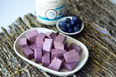 Coconut Blueberry Jigglers kitchen.nutiva.com Organic Recipe
