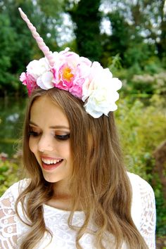 Channel your inner unicorn this Halloween when you rock this flower crown.