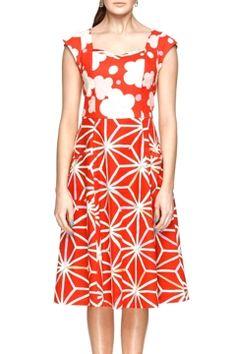 Maiocchi Gone Fishing Dress - Womens Knee Length Dresses - Birdsnest Buy Online