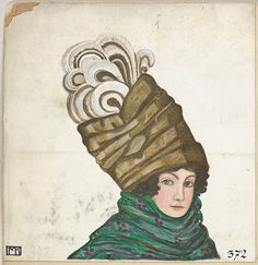 Hat Fashion, Artist: Mela Koehler (Austrian, Vienna 1885–1960 Stockholm), Publisher: Wiener Werkstätte, Date: 1911