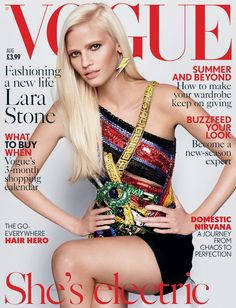 Lara Stone Covers August Vogue -- 04 JULY 2015