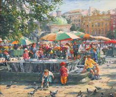 Krakow Market Square By Barbara Jaskiewicz