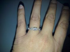 Gorgeous engagement ring that my soon to be husband gave to me <3