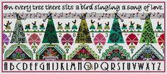 Long Dog Samplers - Dawn Chorus - Cross Stitch Pattern