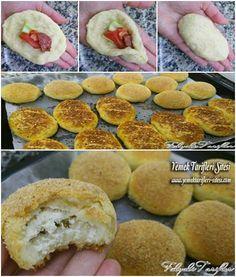 Puf Poğaça Tarifi Greek Cooking, Cooking Time, Yummy Snacks, Yummy Food, Ramadan Desserts, Puff Pastry Recipes, Puff Recipe, Pizza, Turkish Recipes