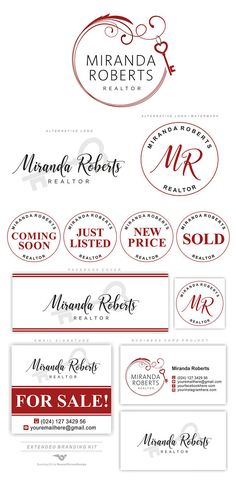 Real Estate logo design Realtor Logo Set Broker logo Houses