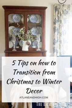 If you need tips on how to transition your home from Christmas to Winter Decor then you need to check this out! I have put together 5 tips as well as inspirational photos to help you get to a beautifully decorated Winter Home. Decor, French Country Decorating, Farmhouse Decor, Winter Decor, Home Decor, Trending Decor, Inspiration, Office Interior Design, Winter House