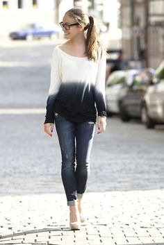 Dip-Dye + Denim --> LOVE THIS TOP!!