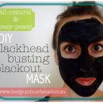 DIY all-natural blackhead busting blackout mask