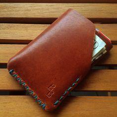 Horween Dublin leather minimalist wallet by BenjaminBottDesign