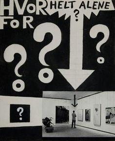 By Albert Mertz (1920-1990), made in the 1960s for the magazine Prisme (Denmark).