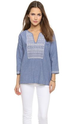 Soft Joie Neri Embroidered Blouse