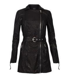 Blake Biker Jacket, Women, Leather, AllSaints Spitalfields