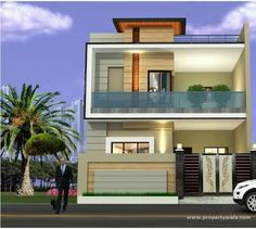elevations of independent houses House Layout Plans, Dream House Plans, House Layouts, Indian House Plans, European House Plans, House Front Design, Modern House Design, House Elevation, Front Elevation