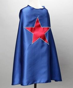 c585cb9c1d7e Halloween Costume: Blue Kids Superhero Cape with a Red Star Superhero  Capes, Best Superhero