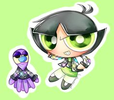 Bedazzled Leather Jacket Buttercup Utonium from PPG 2016 Little Octi Lost.
