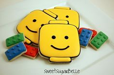 How to make Lego Man Cookies! They're so cute, and pretty easy! Perfect for a Lego party! Lego Birthday Party, Birthday Ideas, Free Birthday, Birthday Decorations, Birthday Parties, Batman Birthday, 5th Birthday, Birthday Cake, Man Cookies