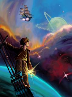 Galleons in space. Treasure Planet Poster by Aedirl Demon