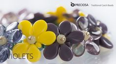Best Seed Bead Jewelry  2017  Traditional Czech Beads & Glass  Violets