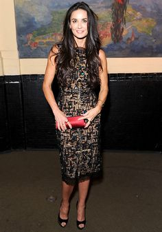 Demi Moore attends the GEMS Girls Like Us Benefit Gala hosted by Demi Moore And Rachel Lloyd at El Museo Del Barrio on October 17, 2012 in New York City.