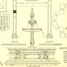 Architectural Features Sketch Drawing