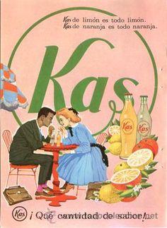 Página de publicidad Original *KAS* · KAS Limón · KAS Naranja -- Año 1962
