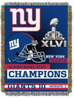 NFL New York Giants 48-Inch-by-60-Inch Super Bowl XLVI Champions Acrylic Tapestry by Northwest. $21.47. Save 14%!