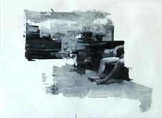 Julien Spianti, Witness, 2011, Oil and collages on paper, 65 x 50 cm, Private collection, France ©